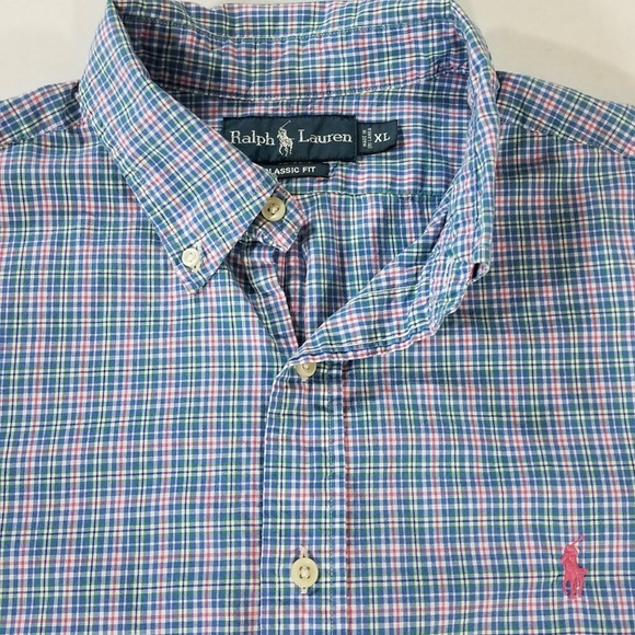 8c737d29 Ralph Lauren Colorful Plaid Button Down Shirt